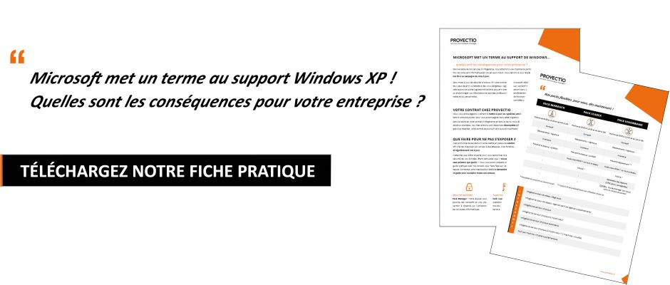 La fin du support de Windows XP